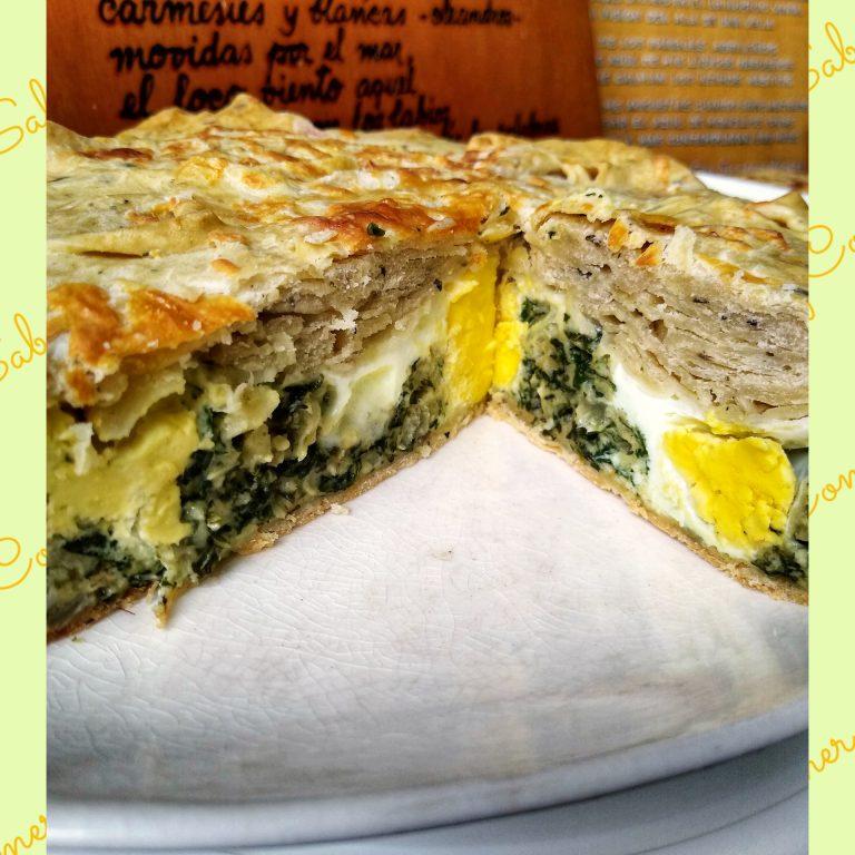 Tarta Pascualina (receta de masa con orégano + relleno)