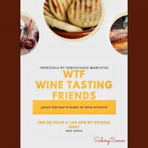 La arepa y el vino se encuentran en el 5to Wine Tasting Friends